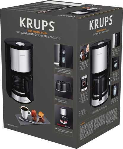 Krups KM321 ProAroma Filter Kaffee Maschine Edelstahl