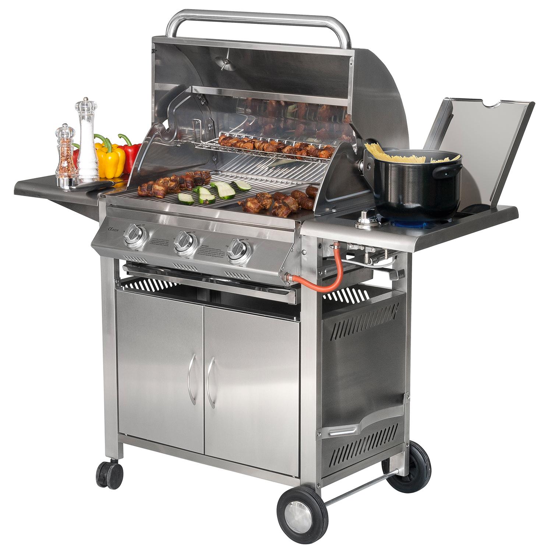 sunday grill texas 3 edelstahl gasgrill außengrill gartengrill bbq