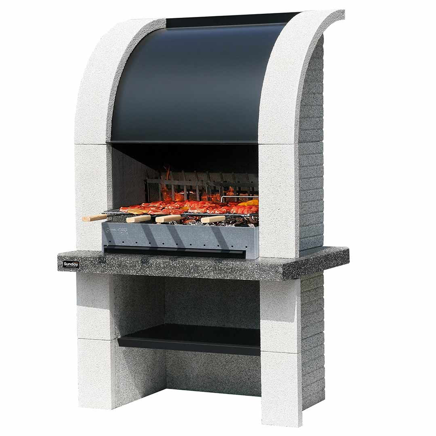 sunday grillkamin montreal crystal gartenkamin au engrill bbq au enkamin ebay. Black Bedroom Furniture Sets. Home Design Ideas