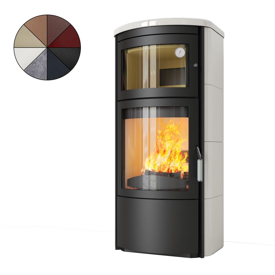 kaminofen hark roma gt ecoplus graphit pizzaofen schwedenofen stahlofen backfach ebay. Black Bedroom Furniture Sets. Home Design Ideas