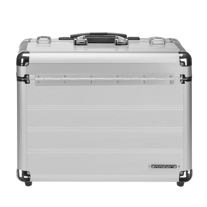 Schloss Pilotenkoffer Reisekoffer Reisetrolley Laptopfach Trolley Alutrolley XL