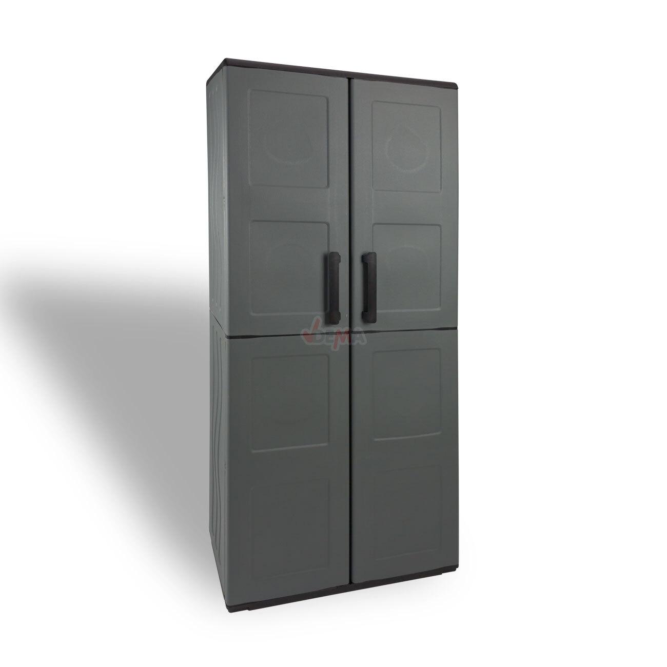 kunststoffschrank werkzeugschrank schrank kunststoff 68x37x163 cm mit 3 b den ebay. Black Bedroom Furniture Sets. Home Design Ideas