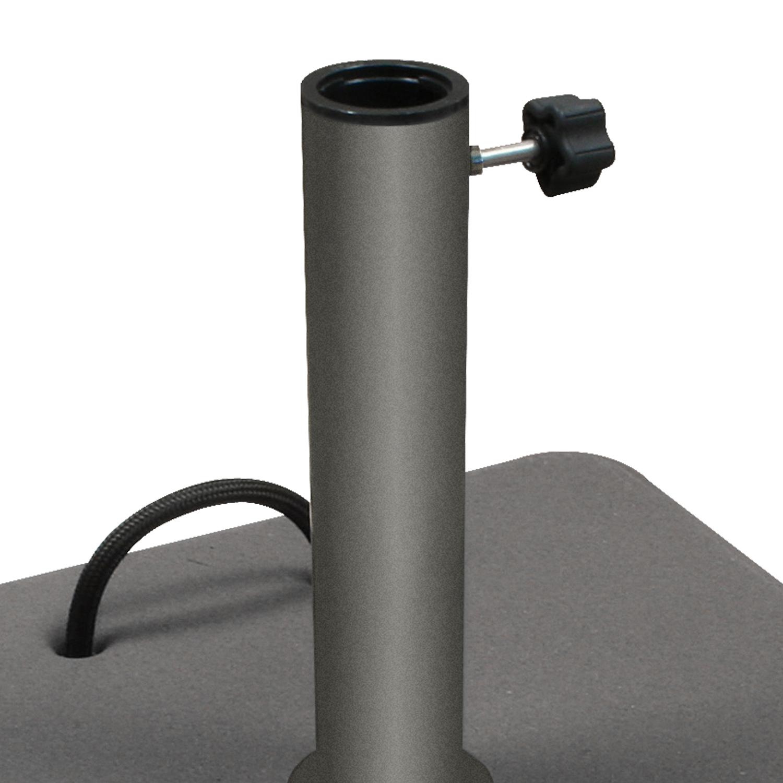st nder schirmst nder beton stein 45 kg grau rollbar stammadapter schirmfuss ebay. Black Bedroom Furniture Sets. Home Design Ideas