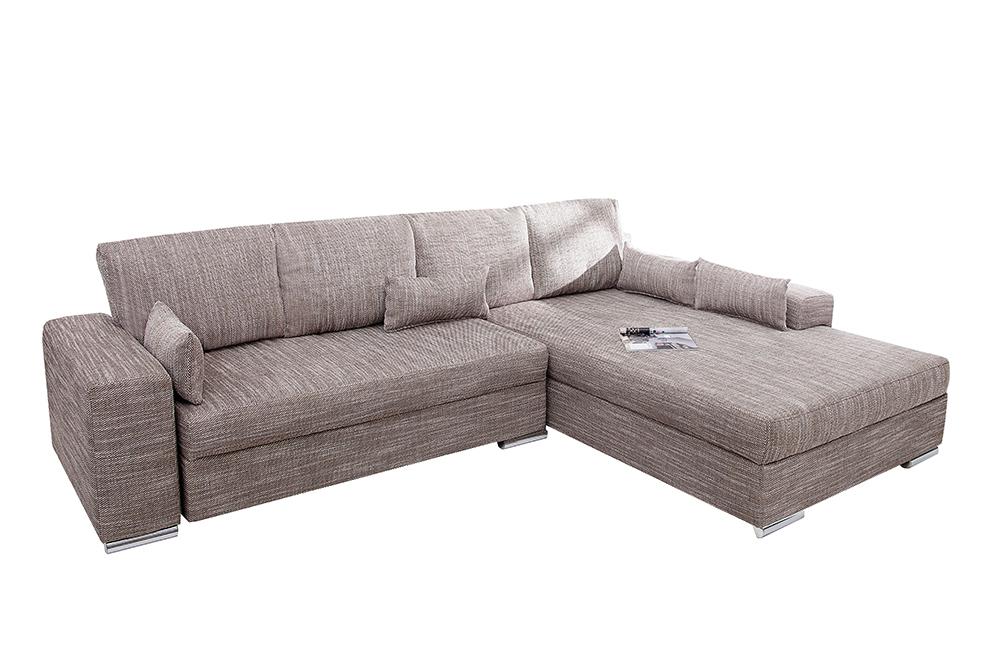 Design wohnlandschaft vincenza strukturstoff bettfunktion federkern couch sofa ebay Riess ambiente sofa