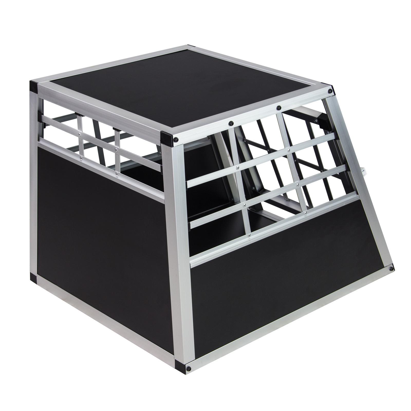 hunde auto transportbox hundetransportbox autotransportbox 54x69x51 cm schwarz ebay. Black Bedroom Furniture Sets. Home Design Ideas