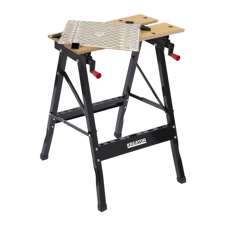 werkbank tragkraft 100 kg 560x220x750 mm werkstatt arbeitstisch stahl klappbar ebay. Black Bedroom Furniture Sets. Home Design Ideas