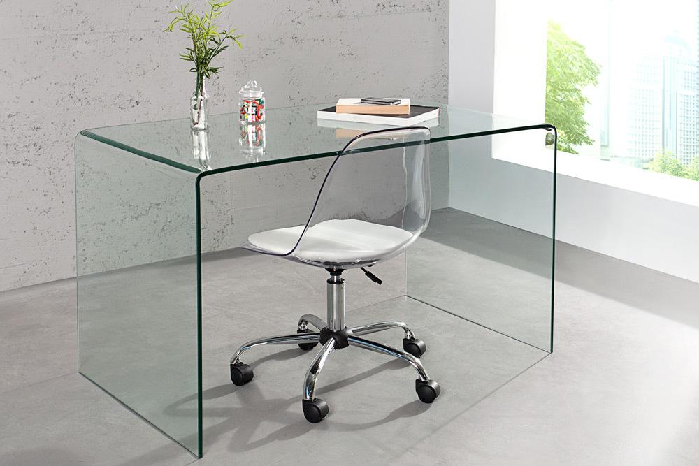 Esstisch GHOST 120 Cm Glas Ganzglastisch Esszimmertisch