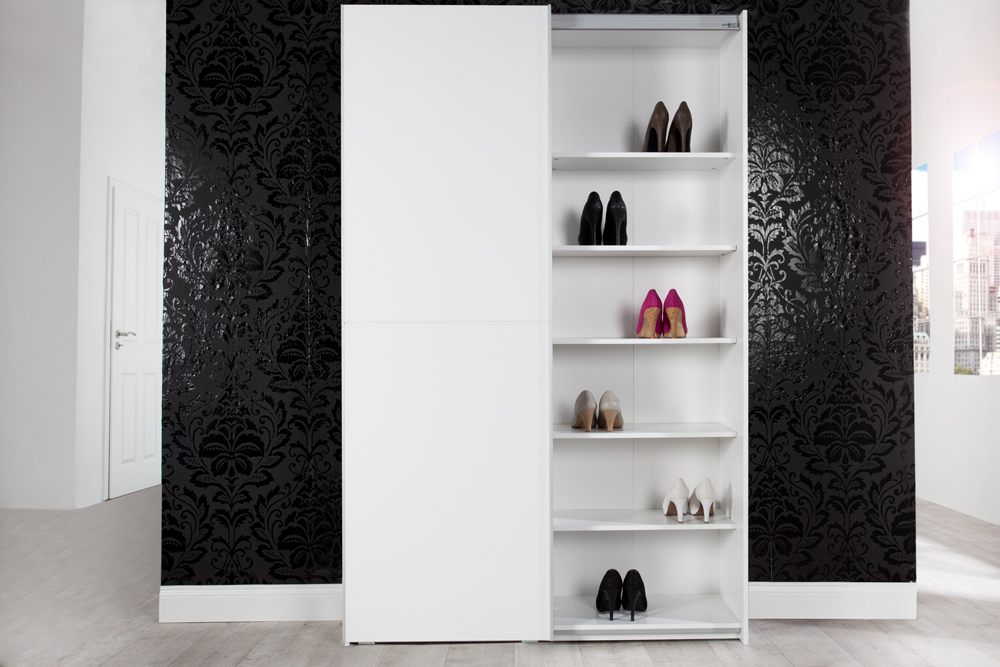 design schuhschrank xxl george wei 125cm breit garderobenschrank ebay. Black Bedroom Furniture Sets. Home Design Ideas