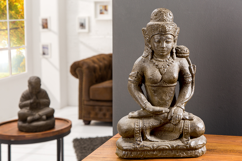 statue dewi tara 50cm buddhistische sternen g ttin aus naturgestein figur ebay. Black Bedroom Furniture Sets. Home Design Ideas