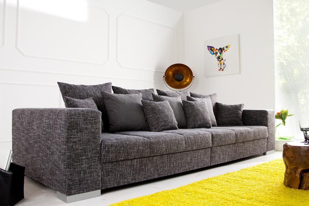 design xxl sofa big sofa island strukturstoff inkl kissen farbwahl couch ebay. Black Bedroom Furniture Sets. Home Design Ideas