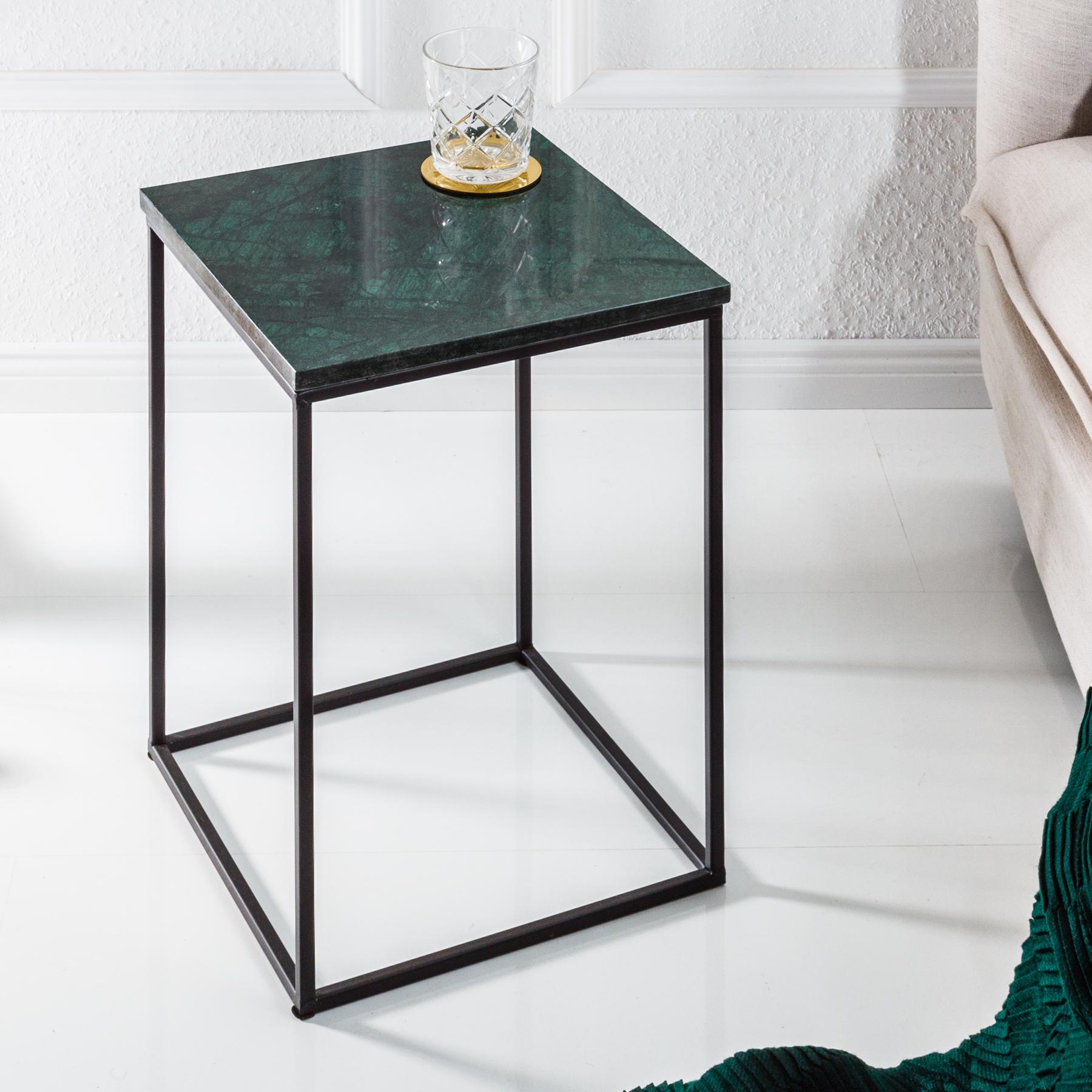Eleganter beistelltisch noble iv marmor tisch gr ner for Marmor wohnzimmertisch