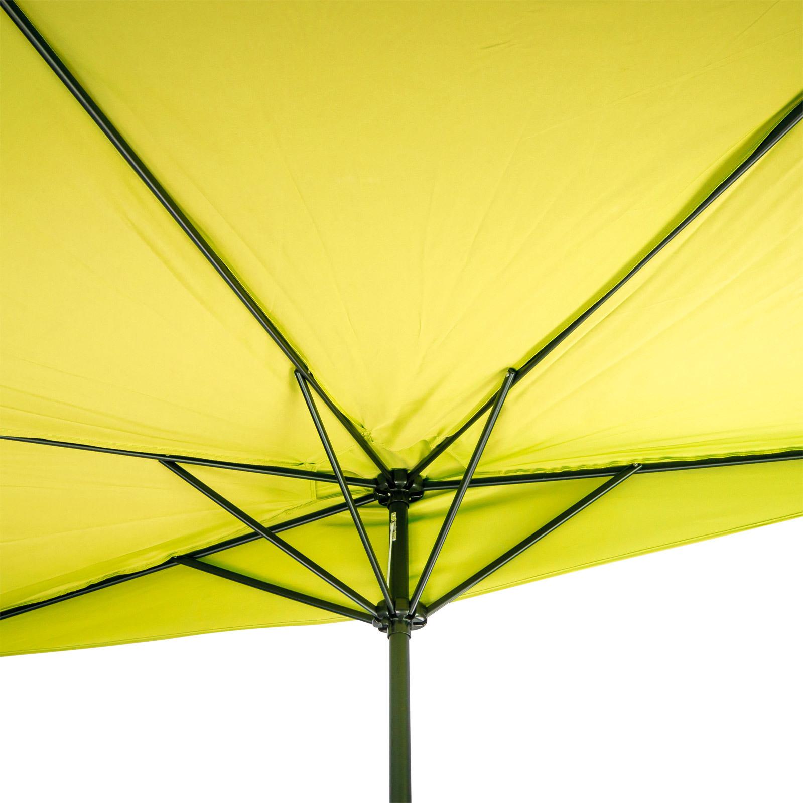 sonnenschirm gartenschirm sonnenschutz halbrund lemon gelb breite 300x156 cm ebay. Black Bedroom Furniture Sets. Home Design Ideas
