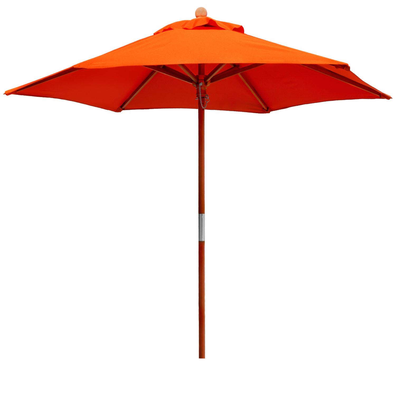 anndora sonnenschirm holzschirm 2 m rund orange gartenschirm balkonschirm ebay. Black Bedroom Furniture Sets. Home Design Ideas