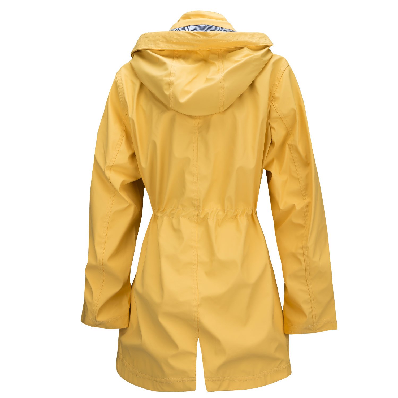 Regenjacke Damen Gelb Gr 44 Wetterjacke Regenmantel Wasserdicht