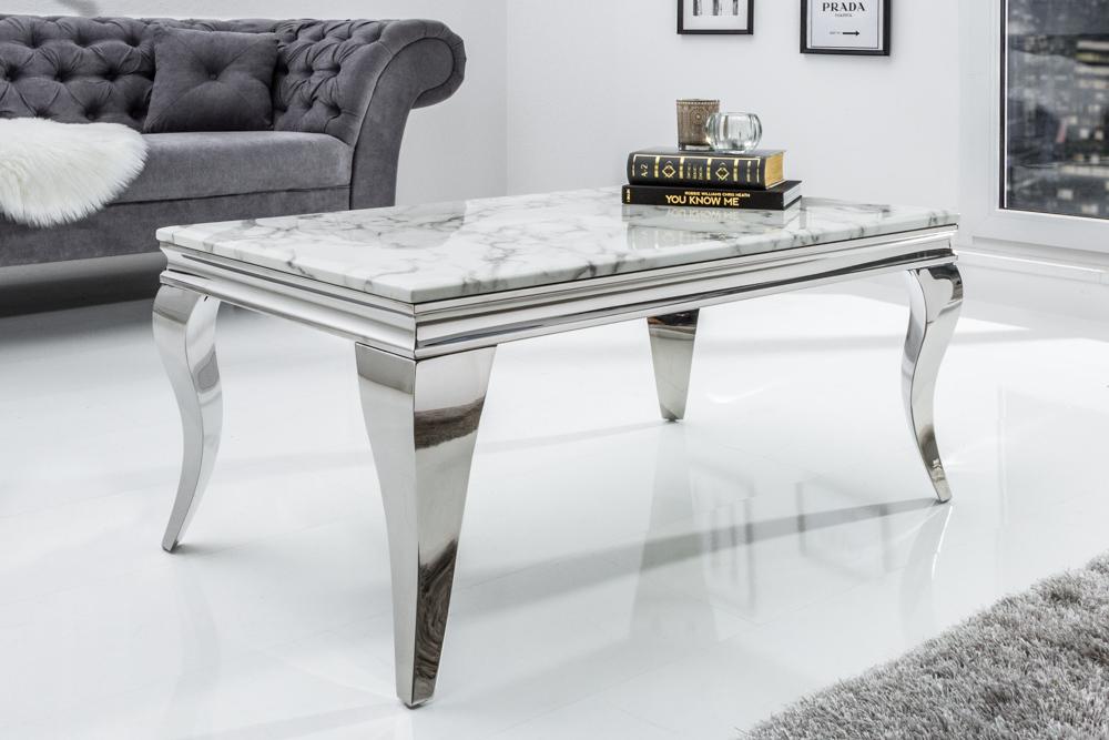 edler couchtisch modern barock 100cm grau wei marmor. Black Bedroom Furniture Sets. Home Design Ideas