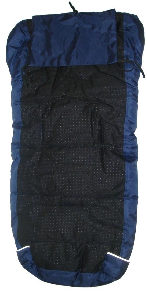 Winterfußsack BO1 Baby One 1 Fußsack für Kinderwagen dunkelblau warm