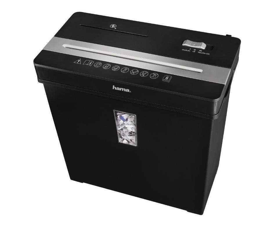 Hama 50188 Aktenvernichter Premium  X8CDNeu /& OVP