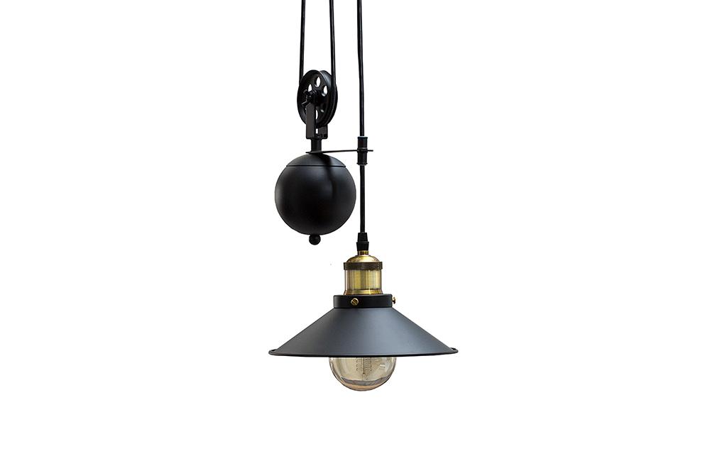 retro h ngeleuchte rope schwarz seilzug industrial design h ngelampe lampe ebay. Black Bedroom Furniture Sets. Home Design Ideas