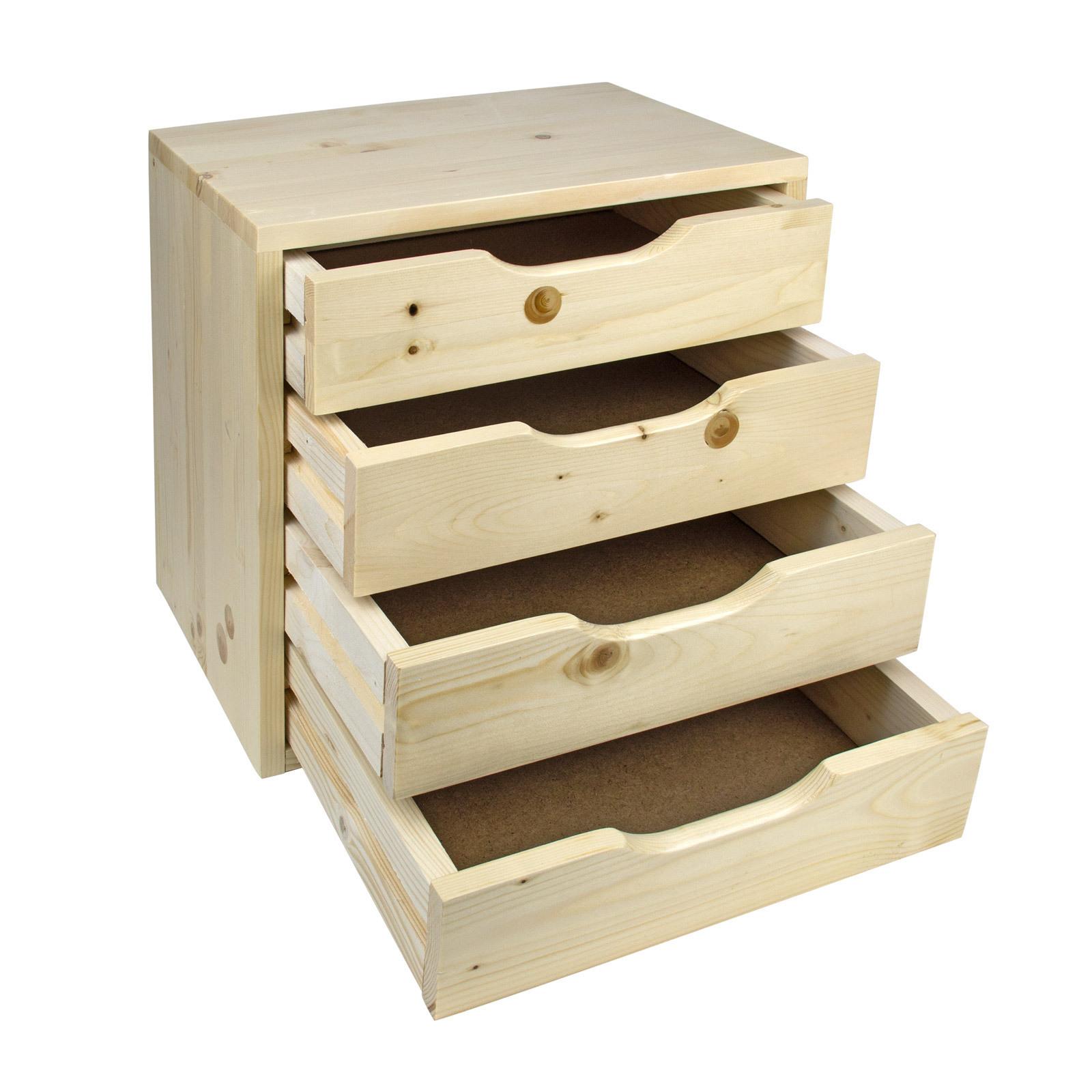 Holz Schubladenbox Holzbox Aufbewahrungsbox Klein