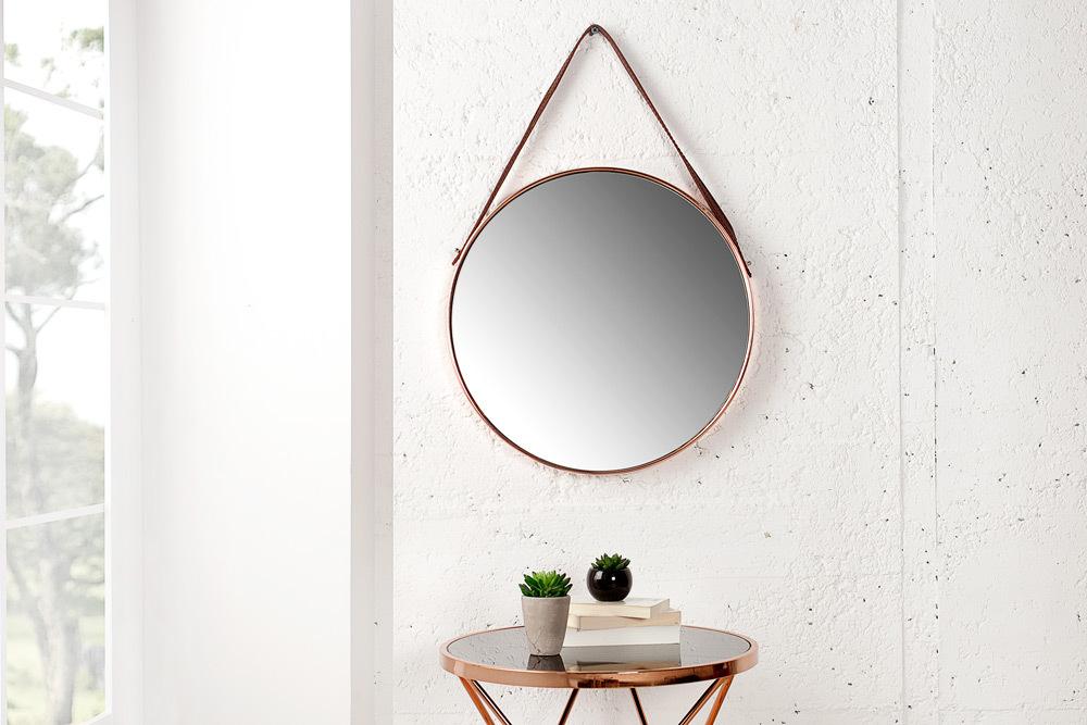 Runder spiegel portrait 45 cm kupfer braun wandspiegel badspiegel dekoration ebay - Spiegel kupfer rahmen ...