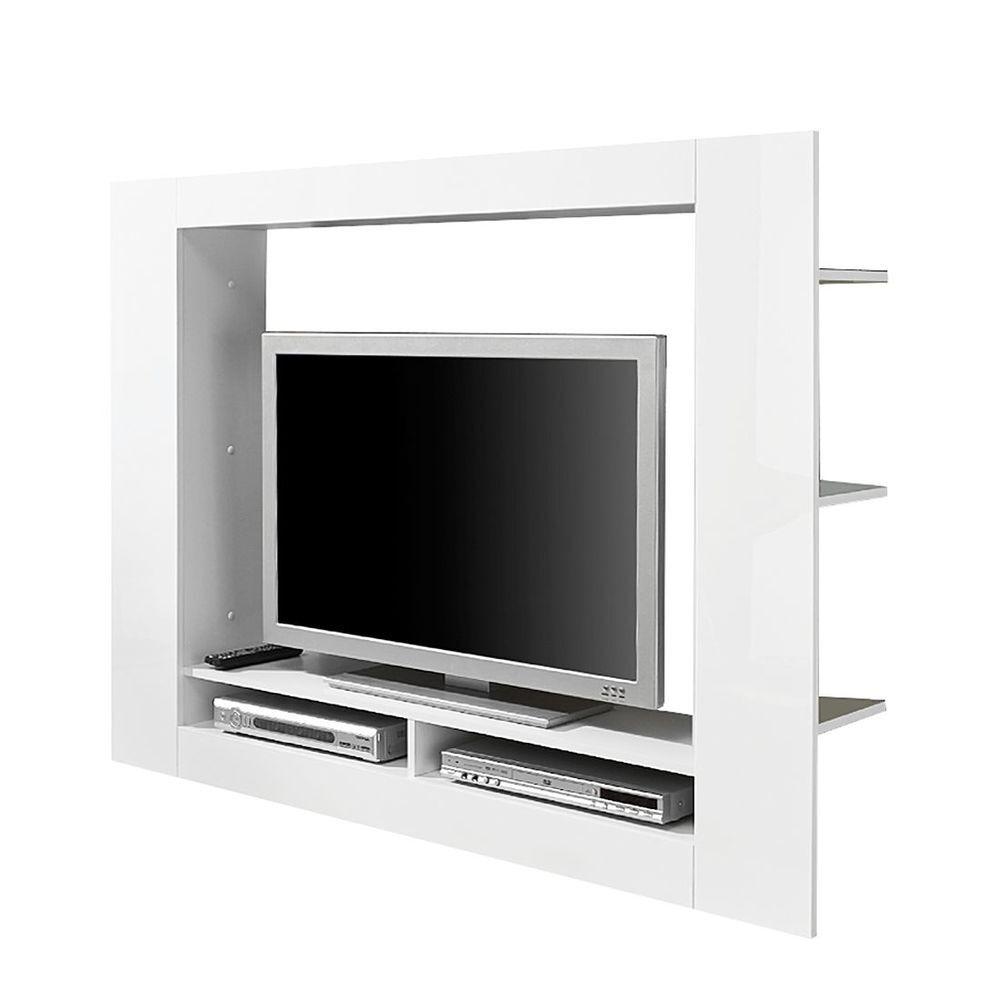 tv medienwand cinema hochglanz weiß tv-lowboard lowboard board mÖbel