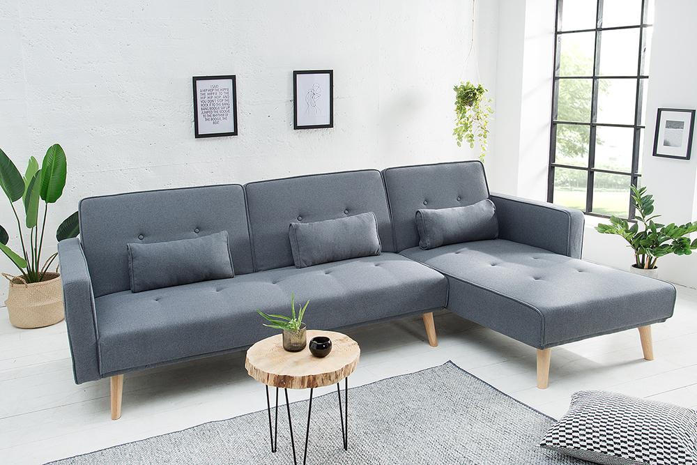 Modernes Ecksofa NORDIC 265cm Sofa anthrazit Couch mit ...