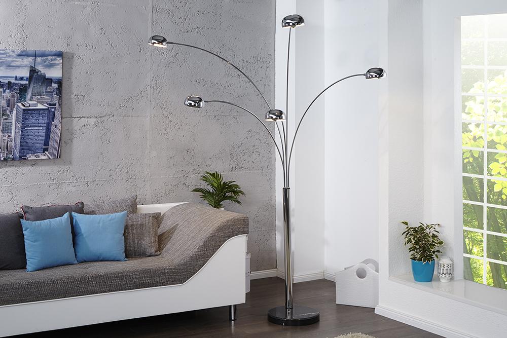 design bogenlampe lounge deal design stehleuchte five. Black Bedroom Furniture Sets. Home Design Ideas