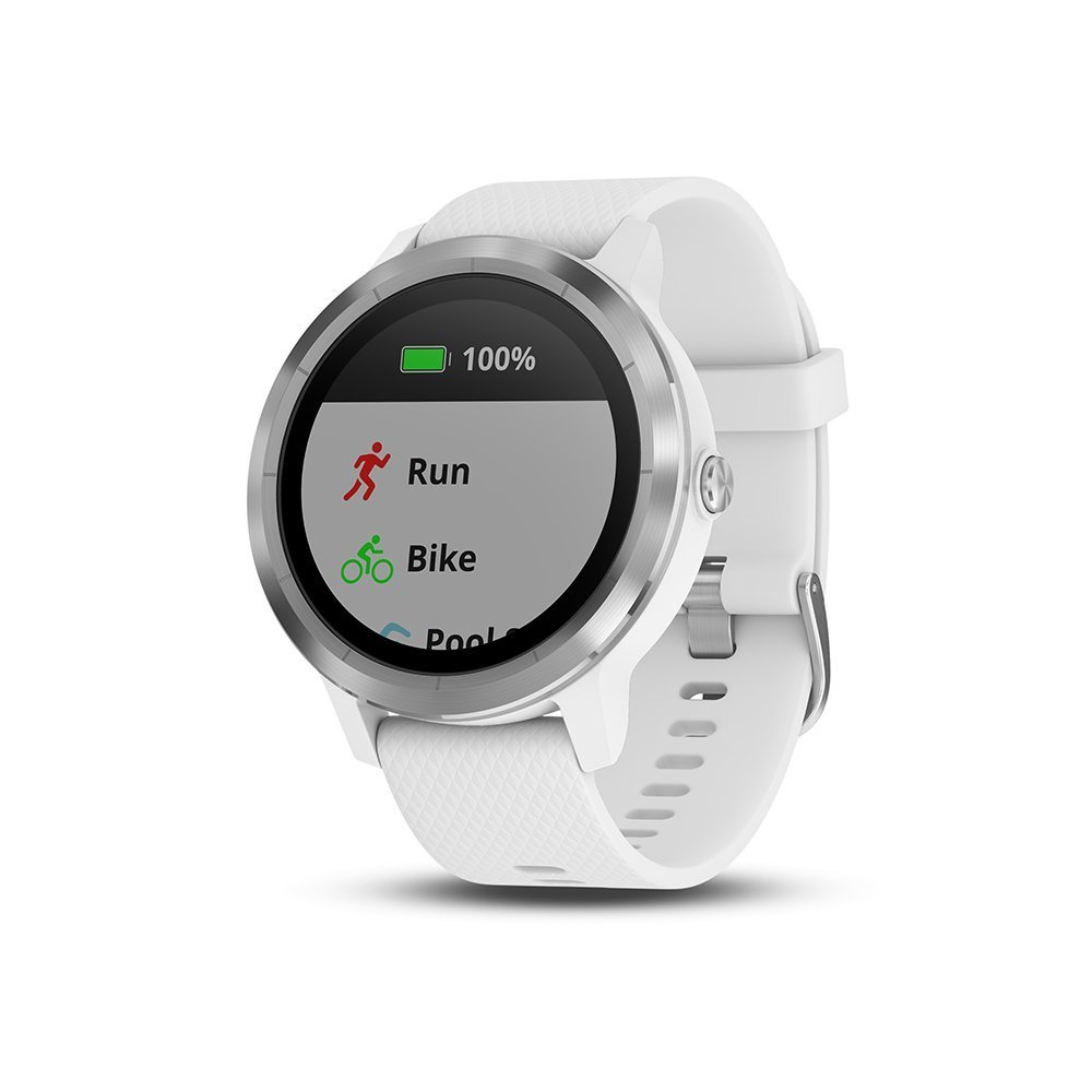 garmin vivoactive 3 smartwatch wei silber ebay. Black Bedroom Furniture Sets. Home Design Ideas