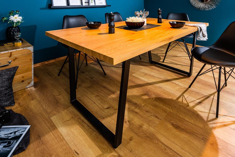 Design Esstisch LOFT 140cm Eiche mit Kufengestell Industrial Style Küchentisch