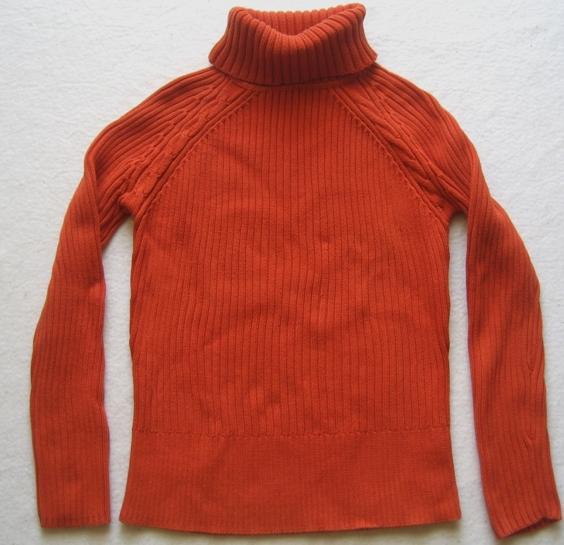 esprit damen rollkragen pullover gr xl orange ebay. Black Bedroom Furniture Sets. Home Design Ideas
