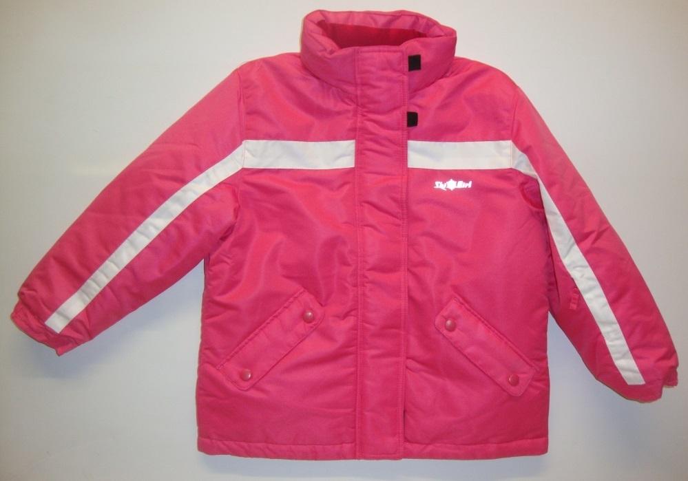Mädchen Neu 128 Winterjacke 122 Sportliche Skijacke Pink XuTPOkiZ