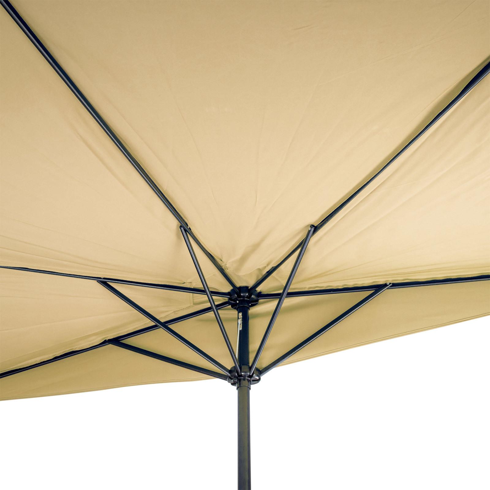 sonnenschirm gartenschirm sonnenschutz halbrund beige breite 300x156 cm ebay. Black Bedroom Furniture Sets. Home Design Ideas