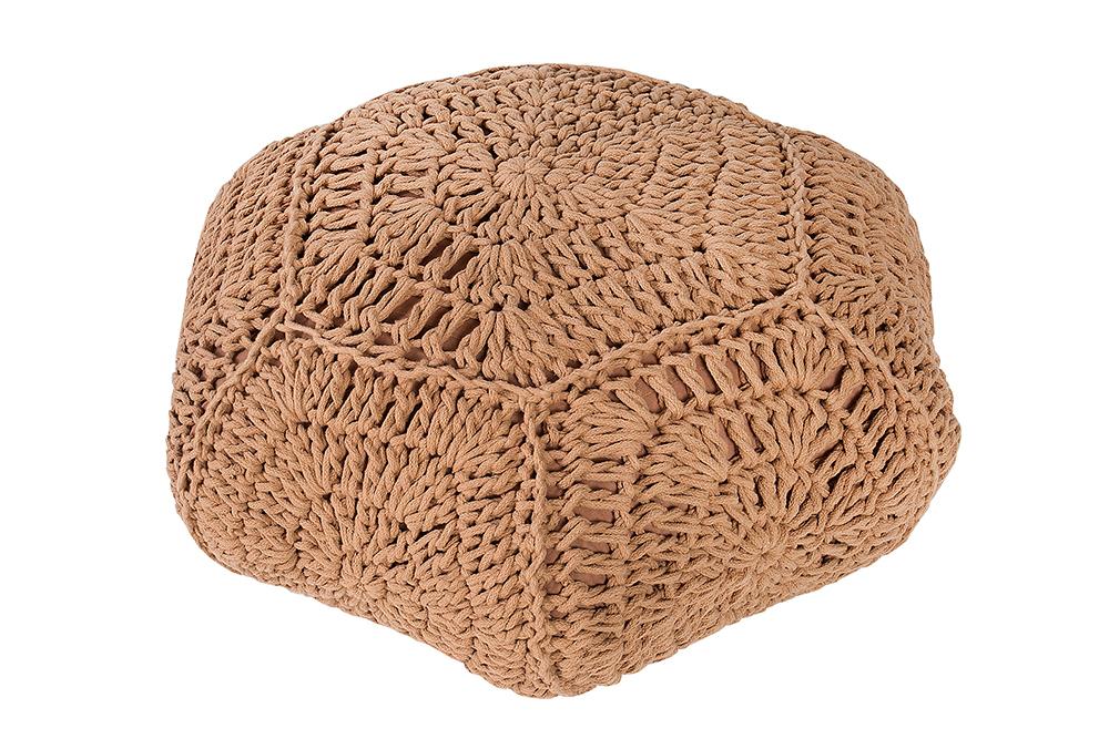 design strick pouf cosy iv sitzhocker in handarbeit. Black Bedroom Furniture Sets. Home Design Ideas