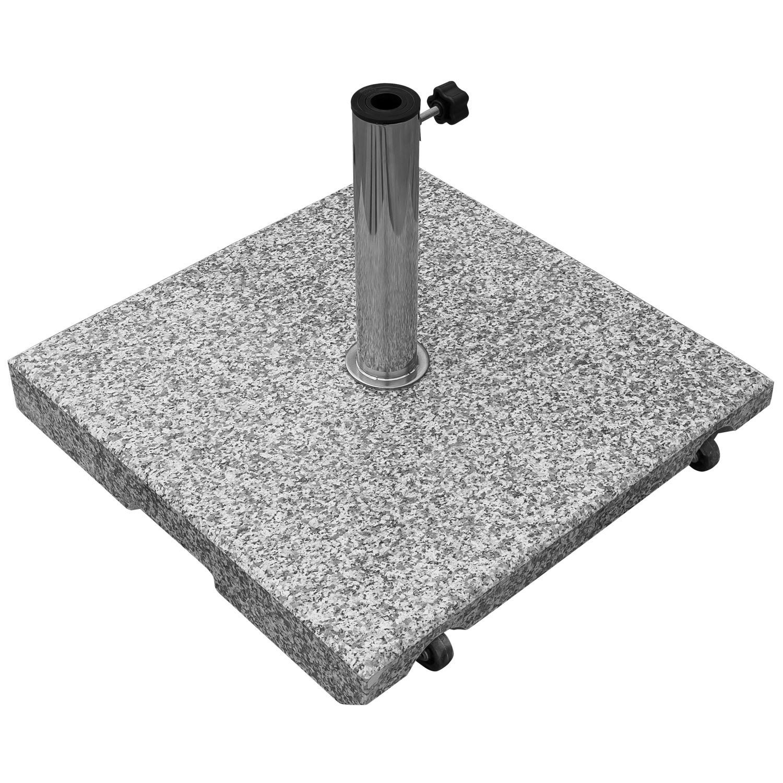 sonnenschirmst nder schirmst nder st nder granit 55 kg 5 adapterringe rollbar ebay. Black Bedroom Furniture Sets. Home Design Ideas