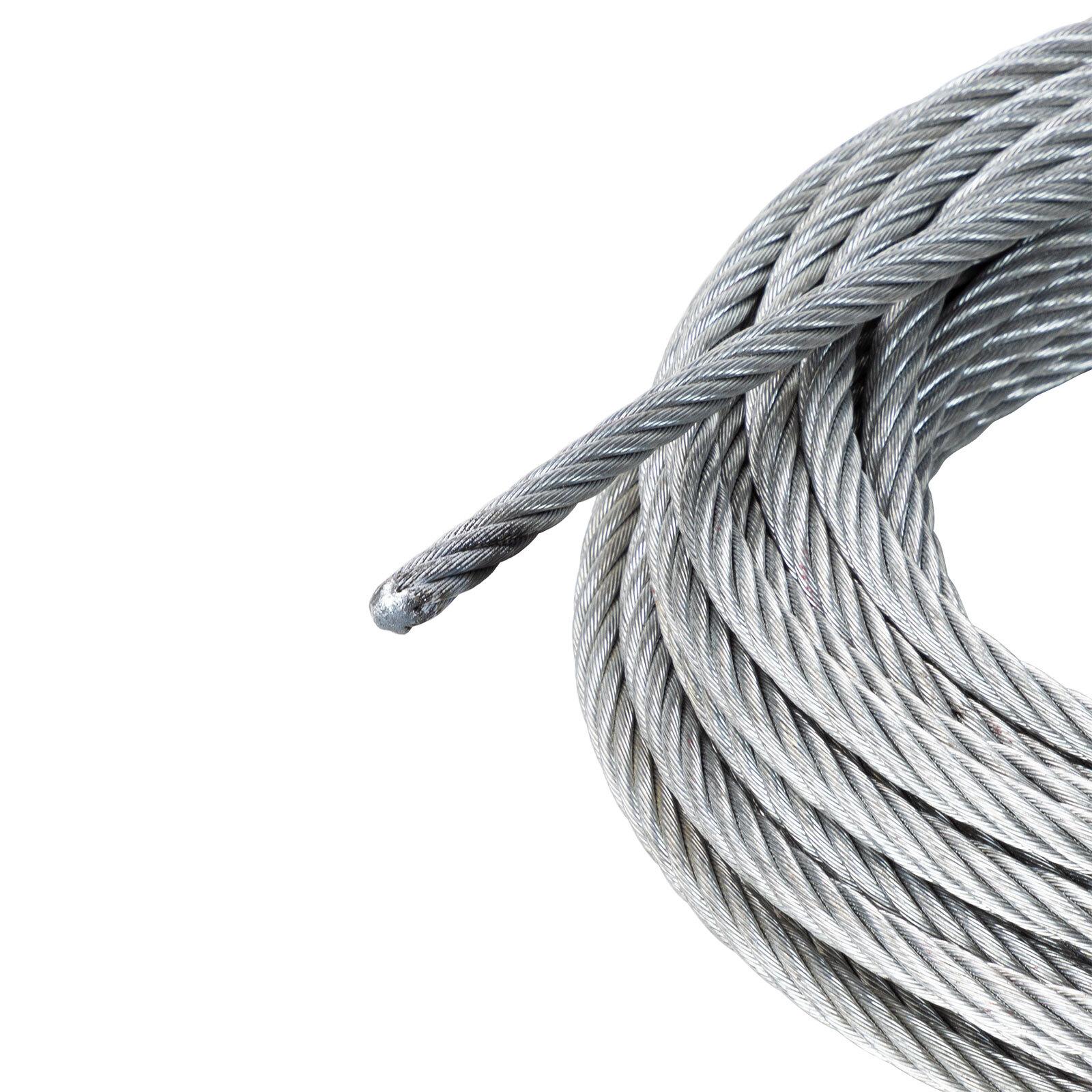 Stahlseil Drahtseil Windenseil mit Haken Seil für Seilwinde 11mm x ...