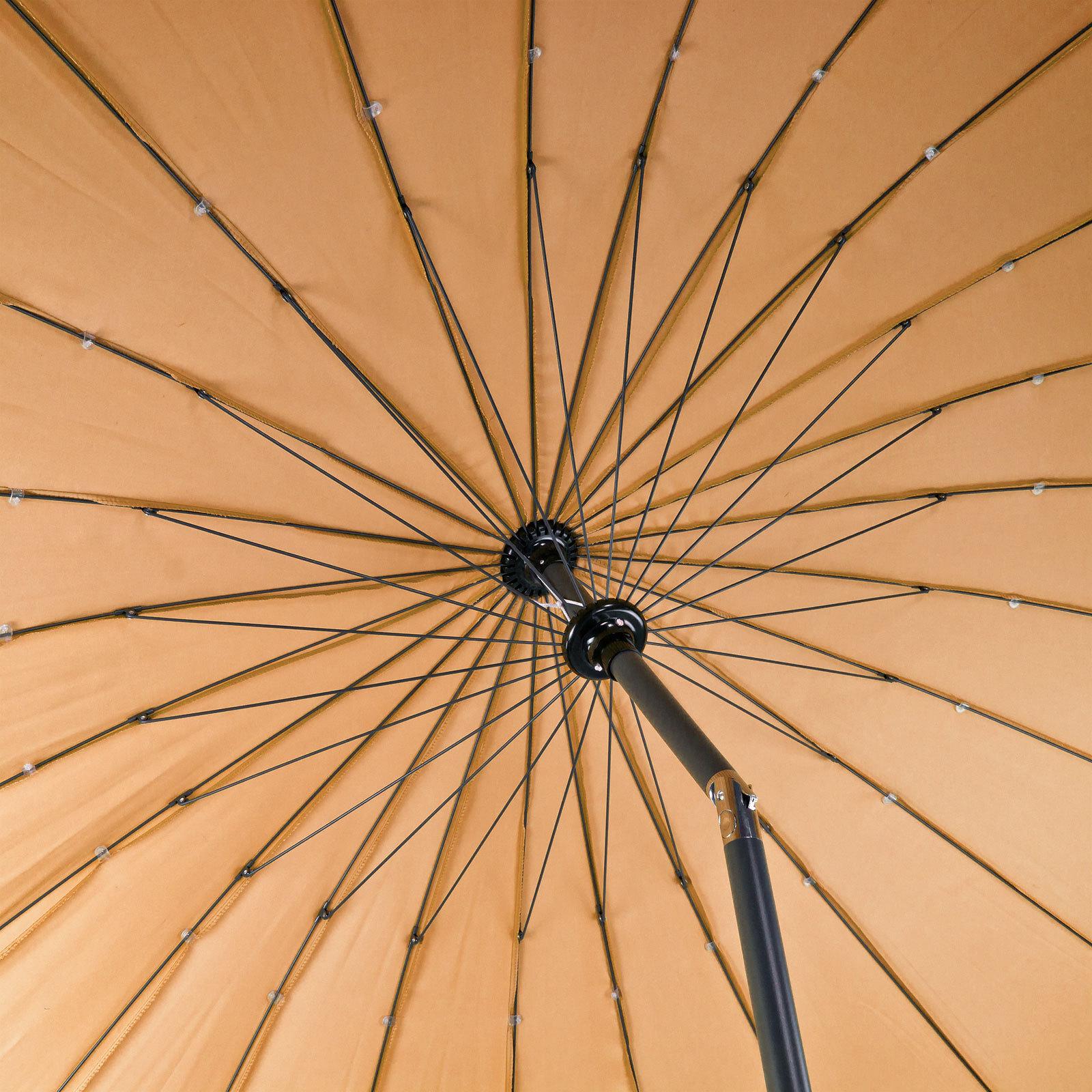 sonnenschirm gartenschirm sonnenschutz schirm rund 2 5m braun hellbraun ebay. Black Bedroom Furniture Sets. Home Design Ideas