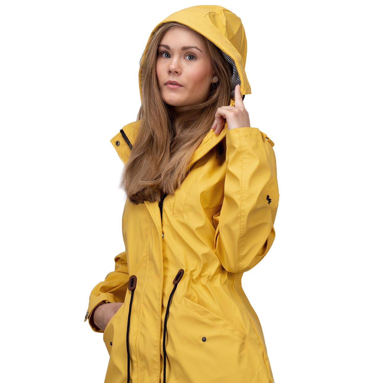 wetterjacke regenjacke damen gelb gr 40 regenmantel wasserdicht funktionsjacke ebay. Black Bedroom Furniture Sets. Home Design Ideas