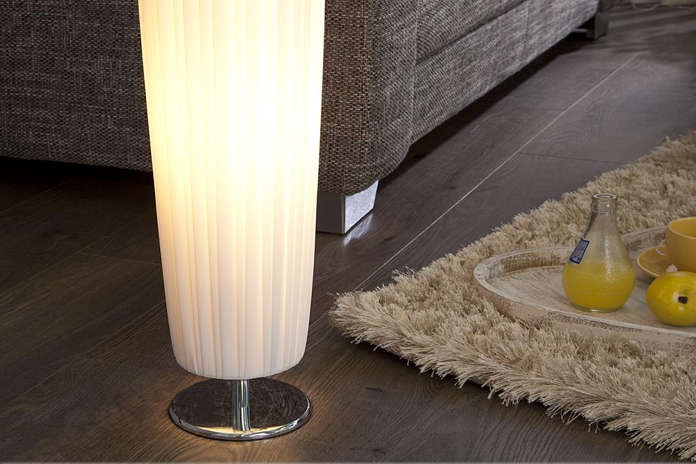 Moderne Design Stehlampe MARILYN 120cm weiß Stehleuchte Standleuchte Lichtsäule