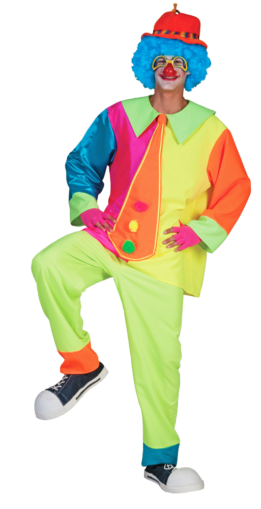 Clown Darry Kostum Fur Kinder Zirkus Party Anzug In Neonfarben Fur