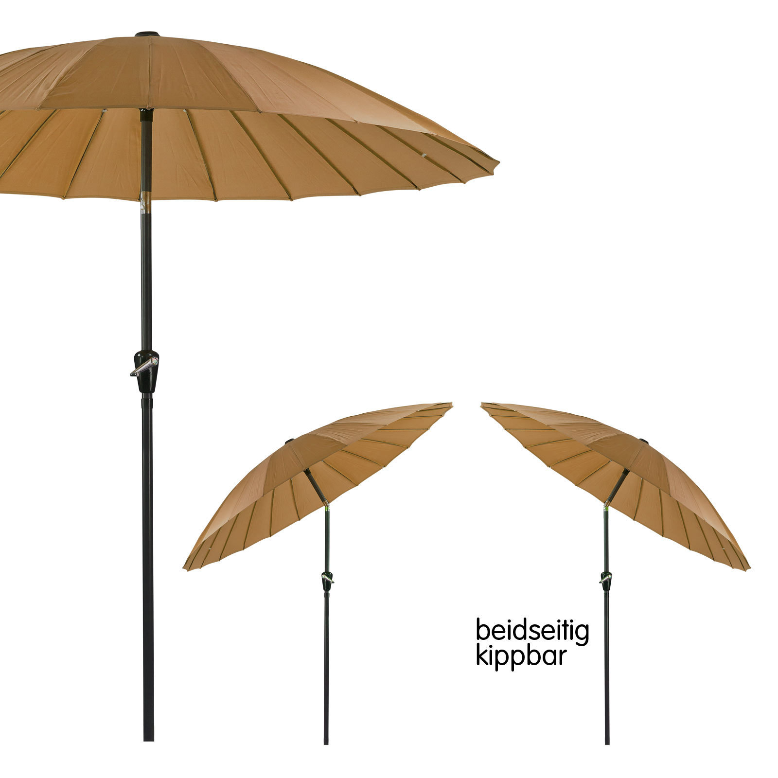 sonnenschirm gartenschirm sonnenschutz schirm rund 2 5m. Black Bedroom Furniture Sets. Home Design Ideas