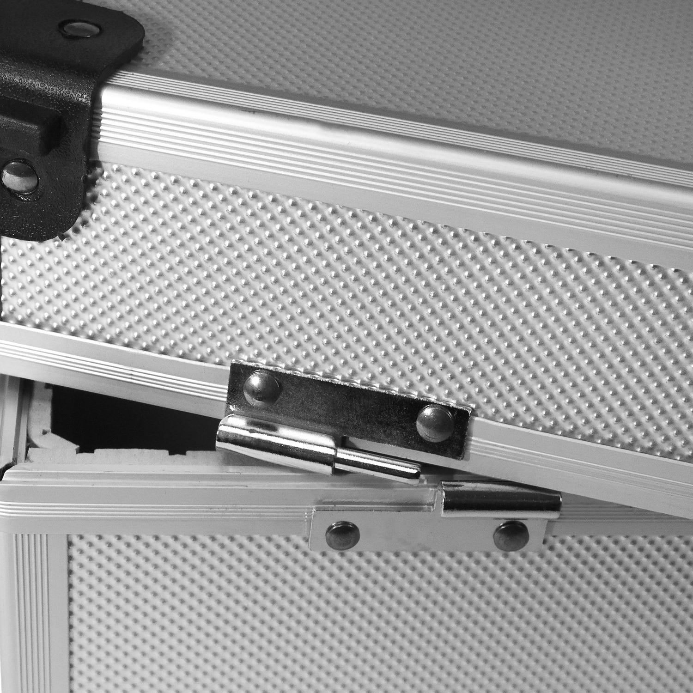 Musik Dj Cd-koffer Alukoffer Für 60 Cds Mit Schlüssel Dj Case Box Innenraum Neopren Lange Lebensdauer