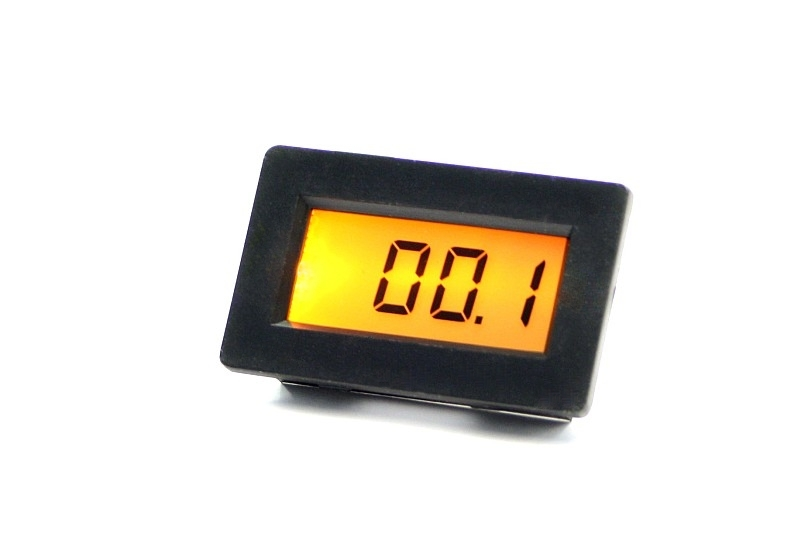 voltmeter digital lcd panel meter pm 438 bl beleuchtung ebay. Black Bedroom Furniture Sets. Home Design Ideas