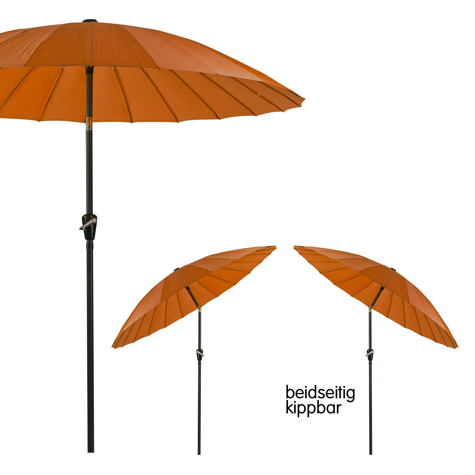 sonnenschirm gartenschirm sonnenschutz kurbelschirm rund 2 5m terracotta ebay. Black Bedroom Furniture Sets. Home Design Ideas