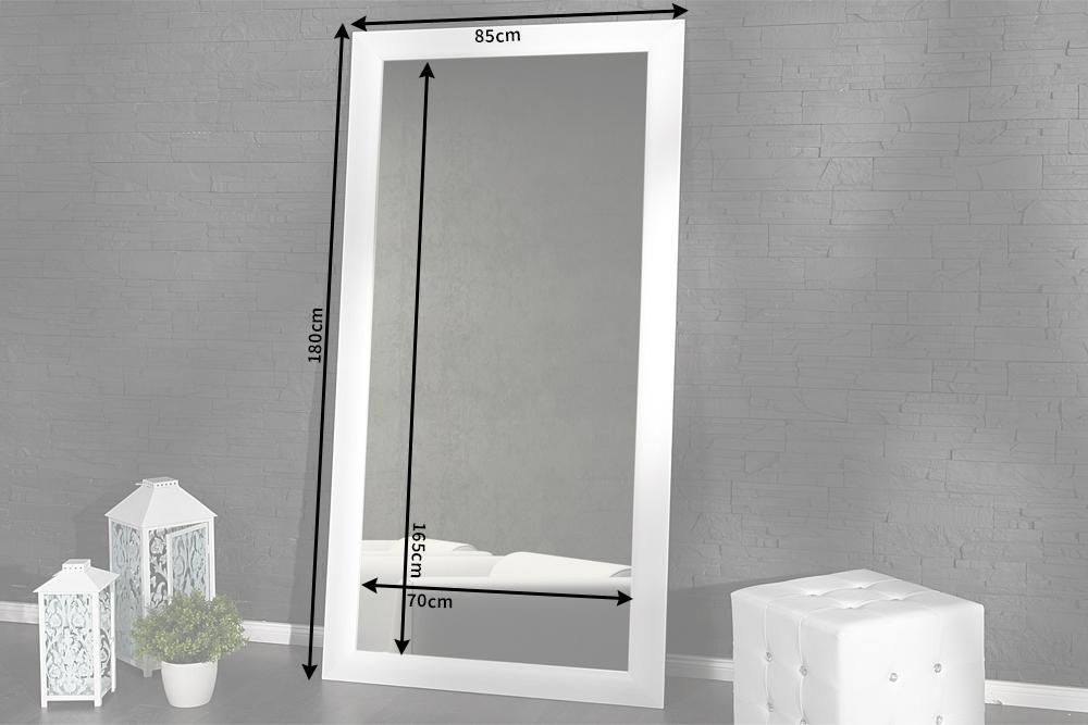 Gro er design spiegel espejo weiss matt 180x85 cm wandspiegel badspiegel ebay - Spiegel zum hinstellen ...