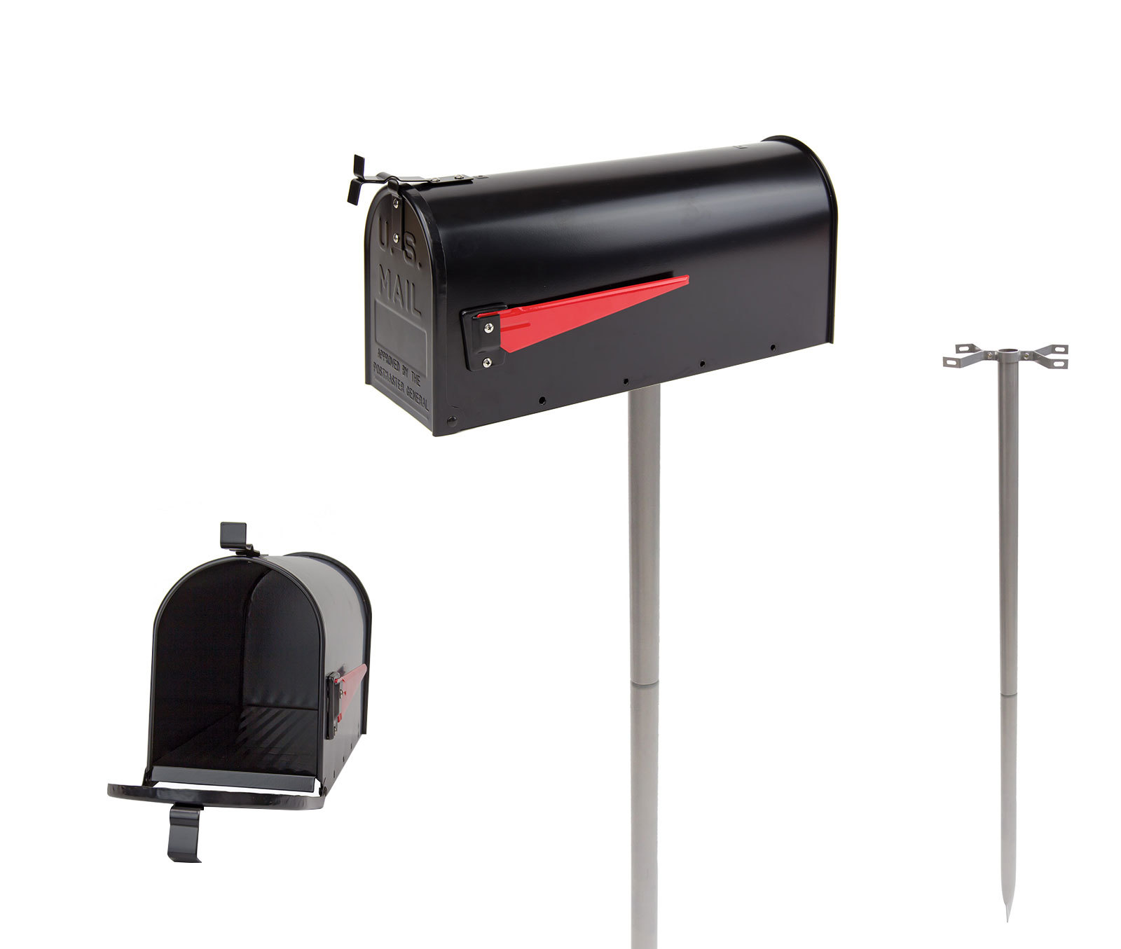 Retro american mailbox us briefkasten standbriefkasten alu for American briefkasten