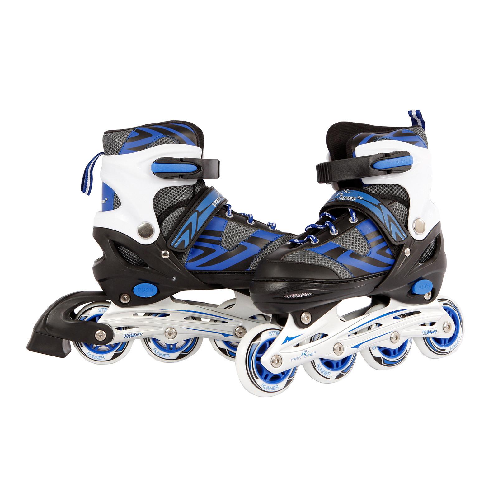 inlineskates inline skates inliner schwarz blau gr 39 42. Black Bedroom Furniture Sets. Home Design Ideas
