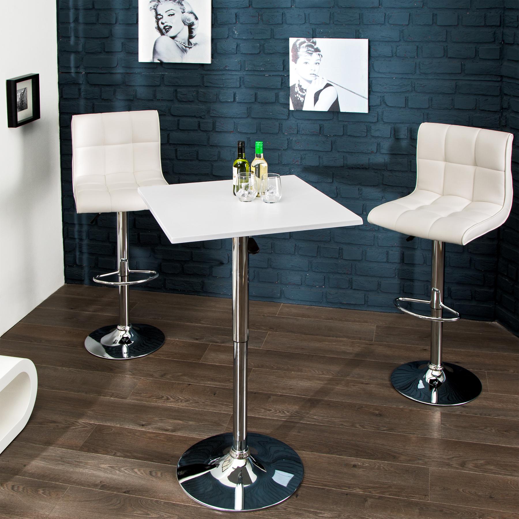 design stehtisch move weiss bistrotisch h henverstellbar k chentisch bar tresen ebay. Black Bedroom Furniture Sets. Home Design Ideas