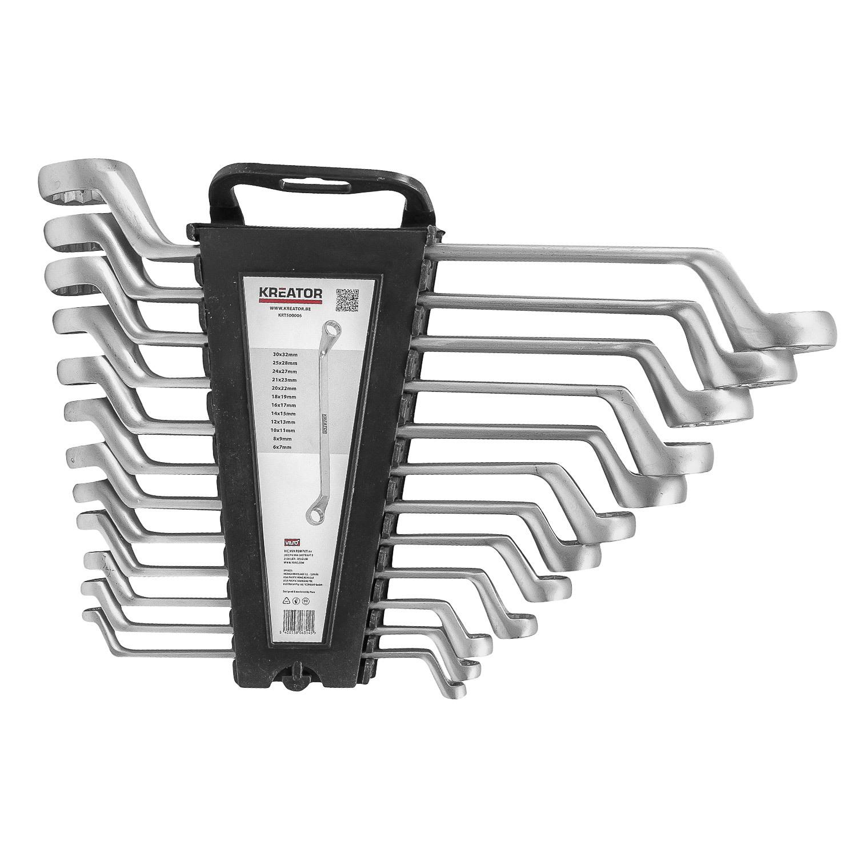 Set Ratschenmaulschlüssel 6 tlg 10-19 mm Schraubenschlüssel Kreator