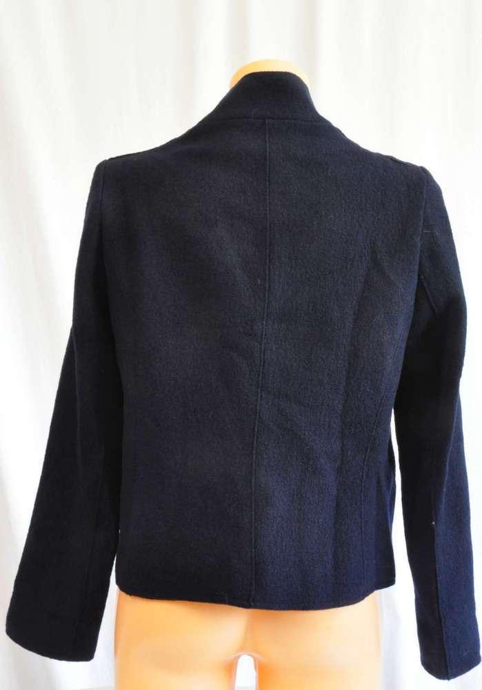 Caroll Blazer Cardigan Kurzjacke Wolle Gr. 42 blau NEU   eBay 030859839fc