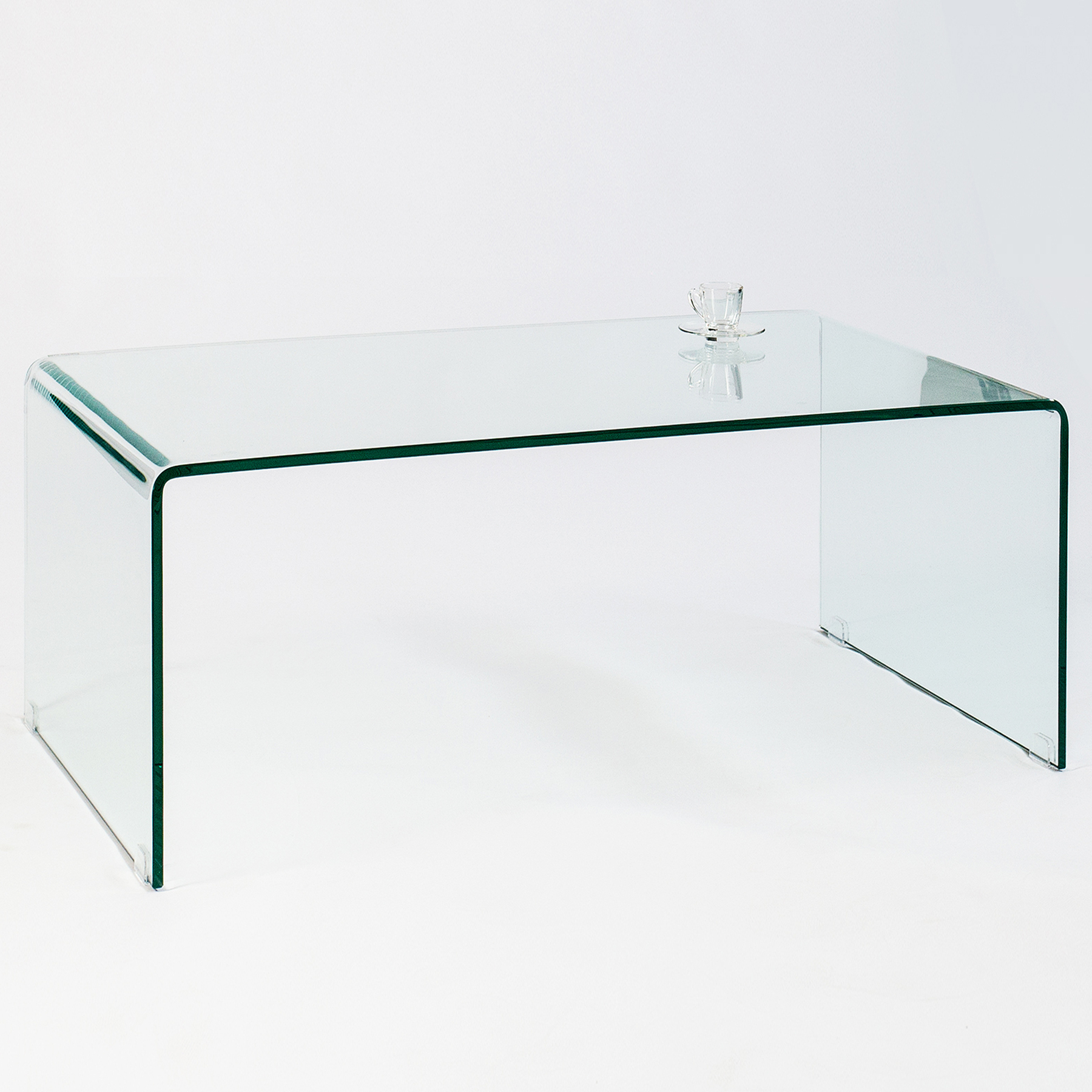 glas couchtisch ghost 110 cm transparent tische glastisch beistelltisch ebay. Black Bedroom Furniture Sets. Home Design Ideas
